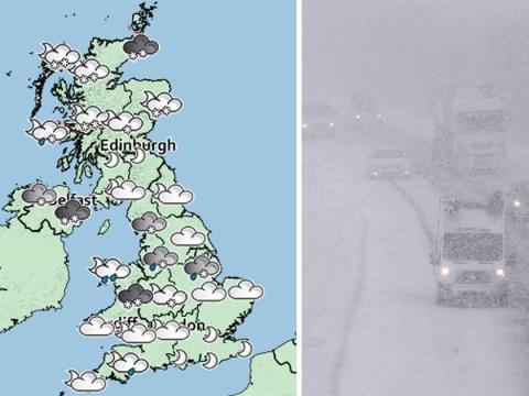 Heavy snow expected across many parts of England on Friday