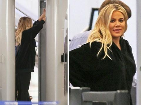 Khloe Kardashian's 'birthing plan revealed as tries to hide baby bump'