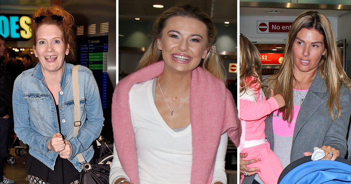 Georgia Toffolo and Rebekah Vardy are all smiles as they arrive home after I'm A Celebrity