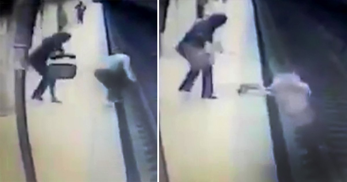 Woman dies after being pushed onto tracks then kicked in head by woman on platform