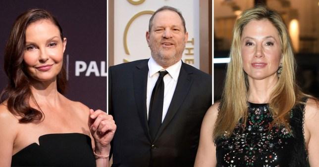 Ashley Judd, Harvey Weinstein and Mira Sorvino