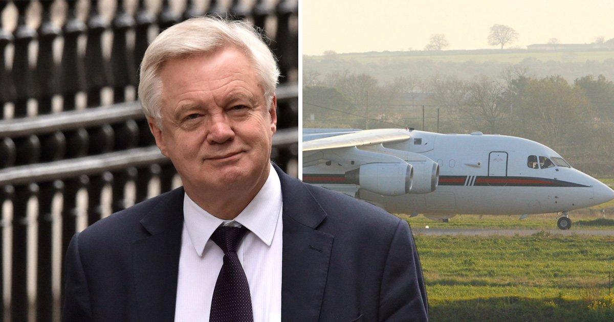 David Davis 'spent nearly £50,000 on RAF flights to Brexit meetings'