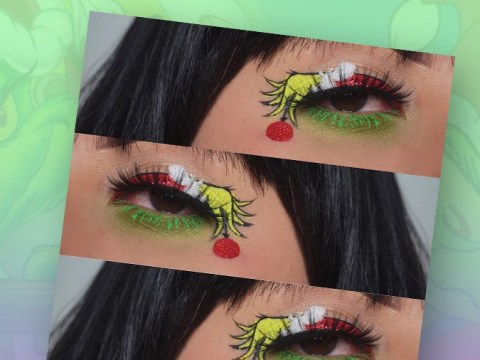 Grinch-inspired make up is now a thing