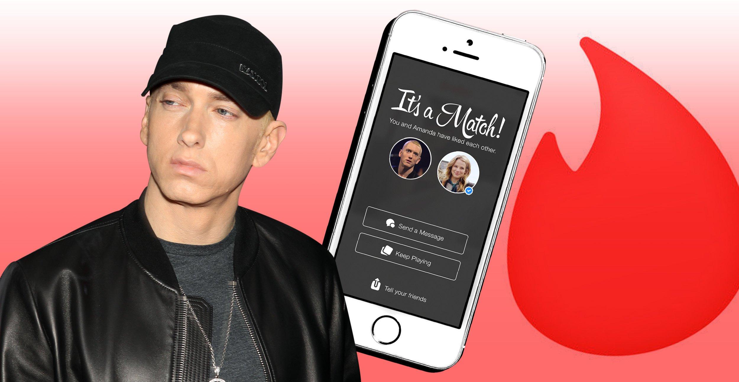 No Eminem isn't really on Grindr – or Tinder for that matter