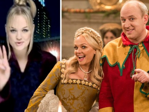 'It was like a little private show!': Emma Bunton burst into song for a spontaneous rendition of 2 Become 1 on set with Tim Vine
