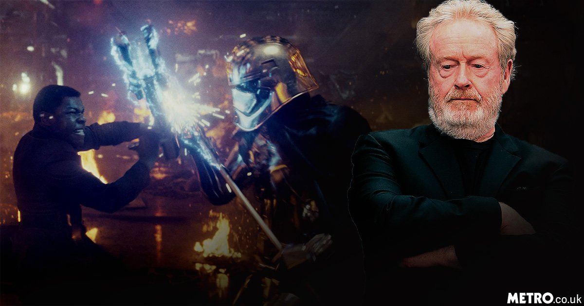 Ridley Scott says he wouldn't direct a Star Wars film because he 'is too dangerous'