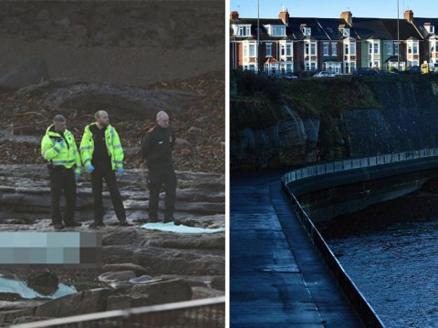 Body of man wearing only socks found on beach