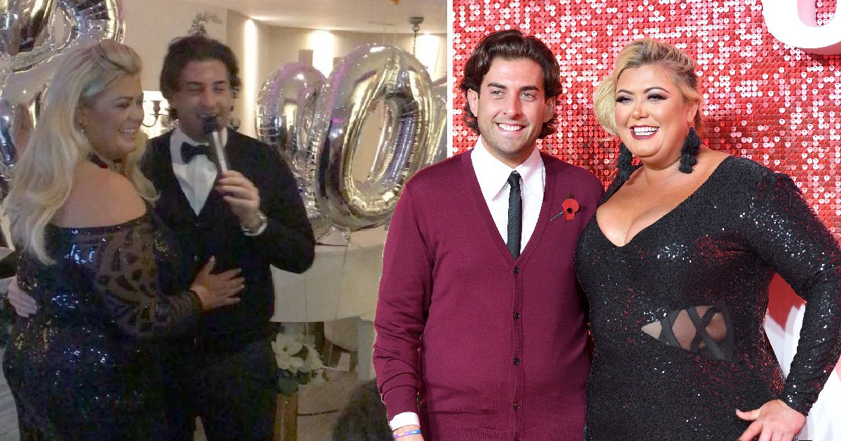 Towie's Gemma Collins and James 'Arg' Argent serenade each other into 2018 at New Year's Eve party