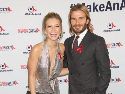 Rachel Riley cosies up to David Beckham at charity bash – but Pasha Kovalev isn't far away