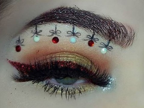 Bauble brows are here, just in case decorating your Christmas tree isn't enough