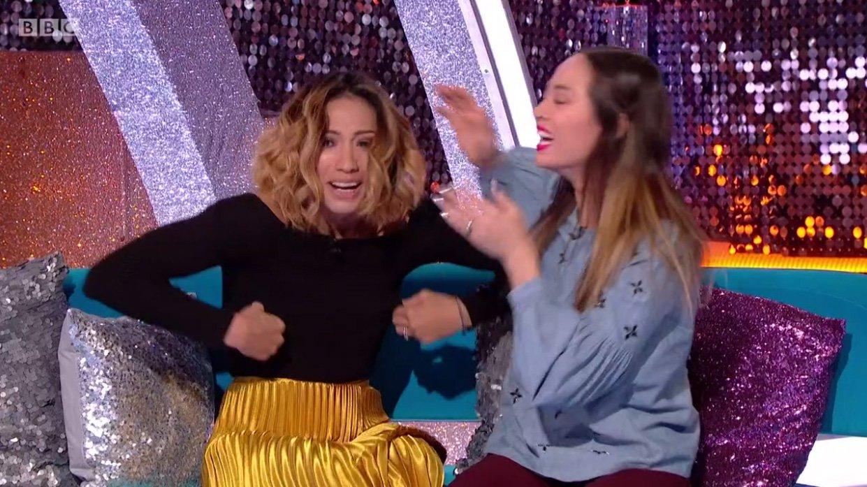 'Oh my bra is down!' Karen Clifton suffers toe-curling wardrobe malfunction on live TV