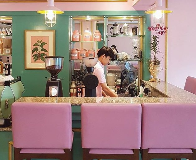 wes anderson inspired cafe