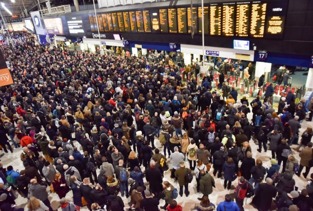 Rush hour at Waterloo is going to be horrible