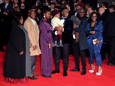 John Boyega brings his whole family to London premiere of Star Wars: The Last Jedi