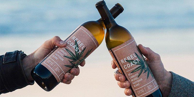 Rebel Coast Winery's weed-infused wine bottles