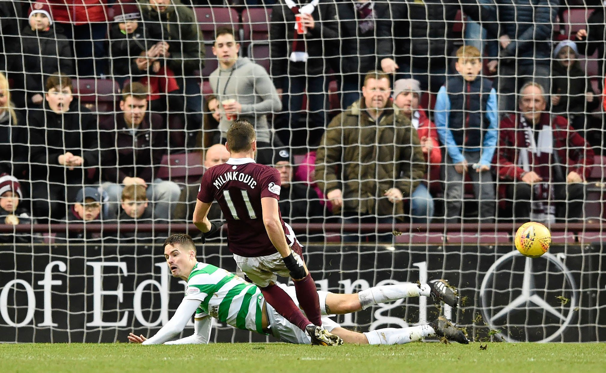 Celtic's incredible unbeaten run ended in spectacular fashion by Hearts