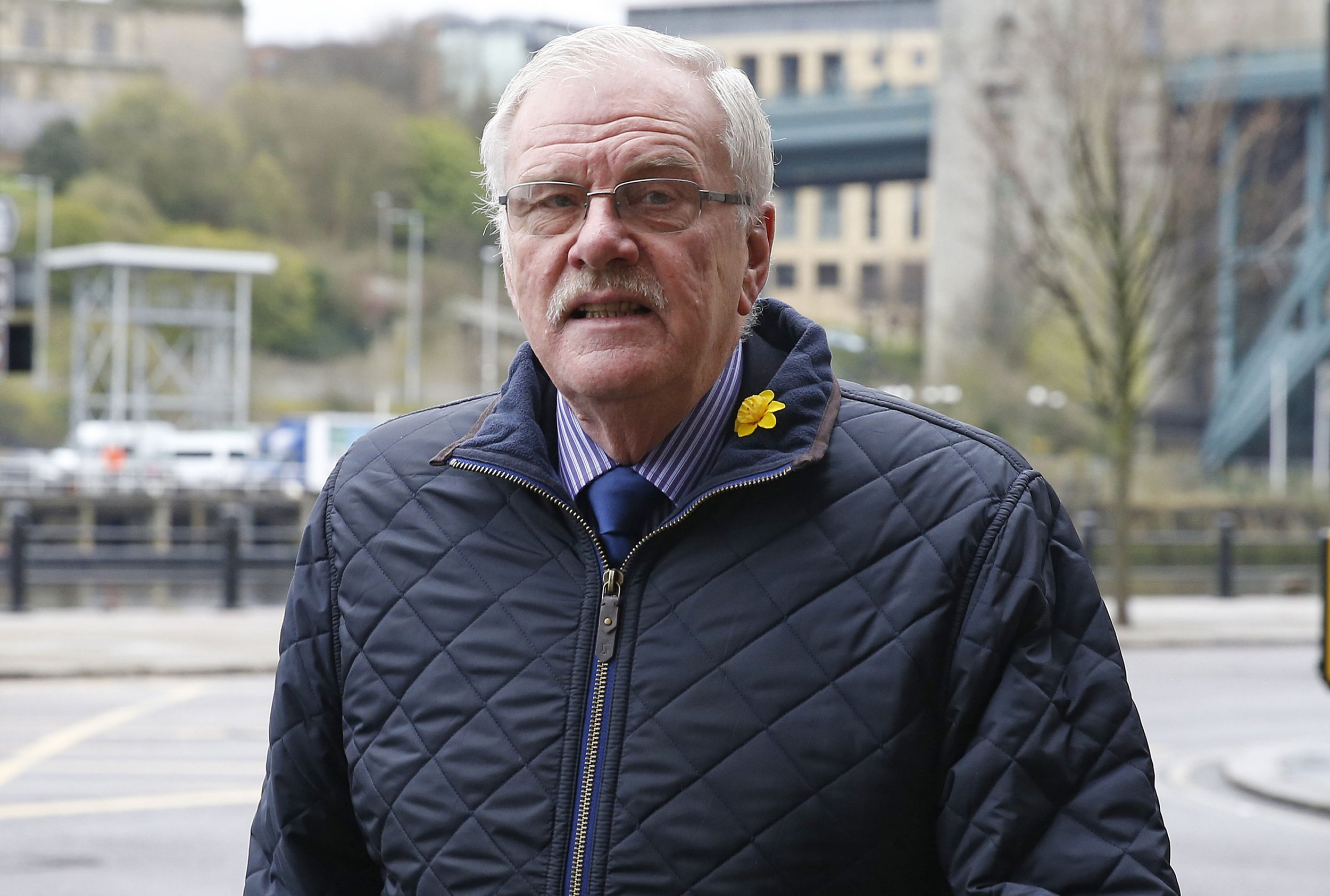 Colin Gregg, 74, arrives at Newcastle Crown Court where he denies 26 indecent assault charges dating from the 1960s to the 1990s, relating to nine complainants. Greggs founder PA