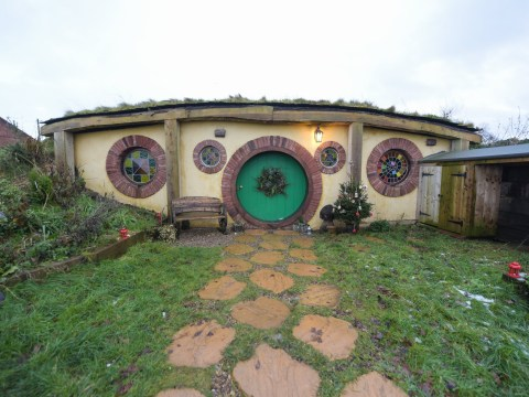 You can spend the night in a hobbit house with a view of the sea