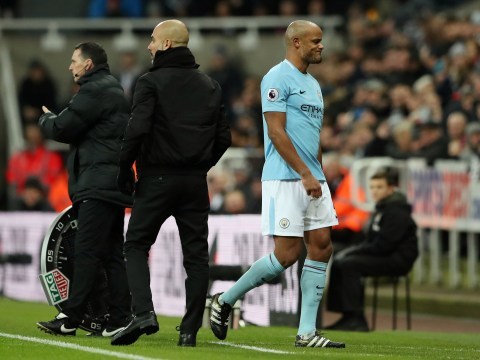 Manchester City star Vincent Kompany limps off against against Newcastle in fresh injury scare