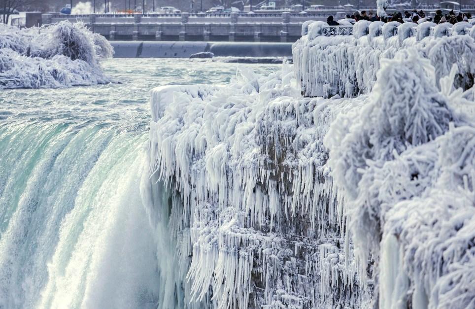 Niagara Falls has frozen over