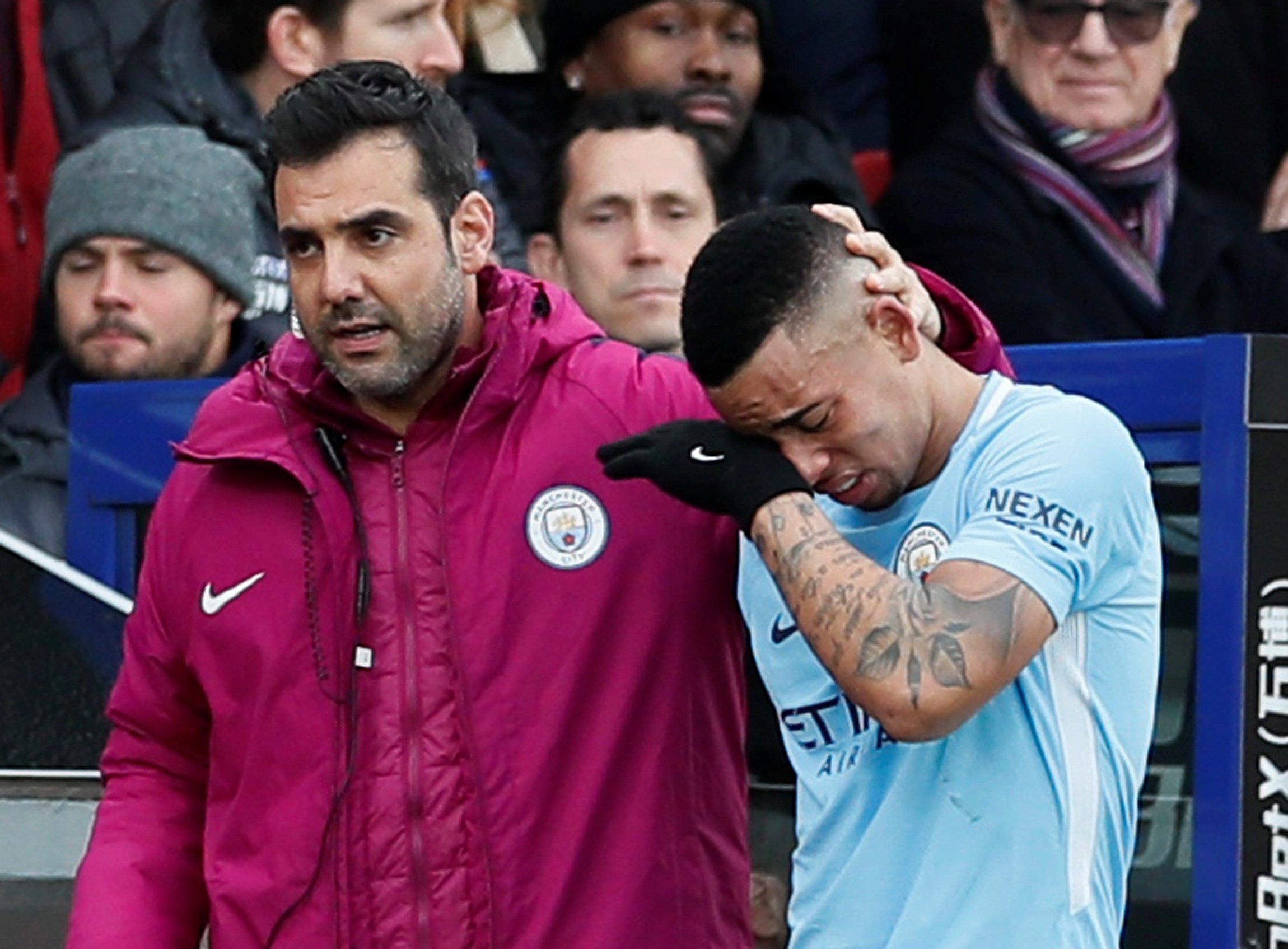 Manchester City striker Garbiel Jesus suffers collateral ligament damage
