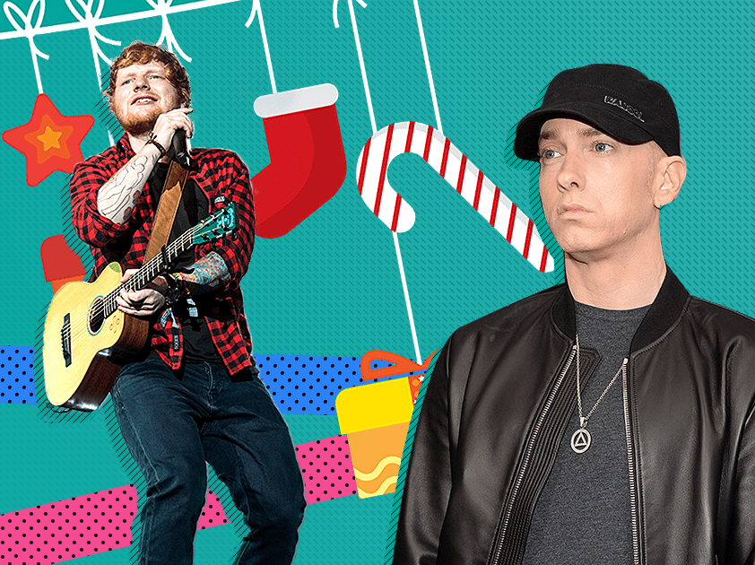 When is the Christmas no 1 announced, will it be Ed Sheeran or Eminem and what is the current UK number 1?
