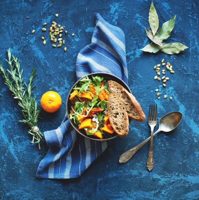 Vegan pumpkin salad