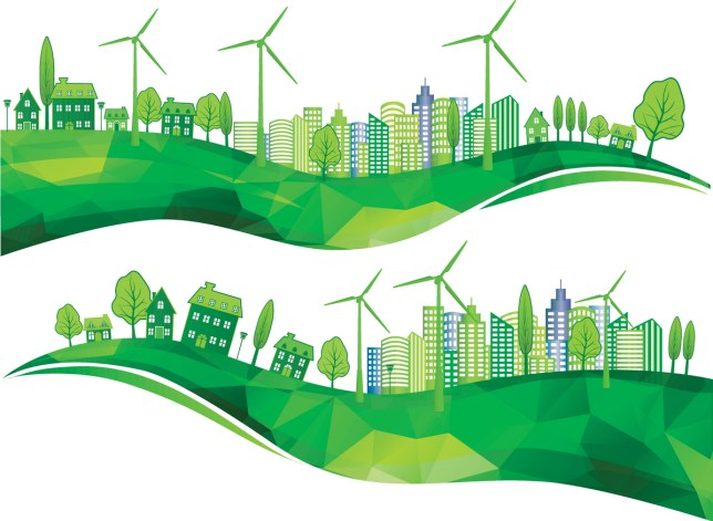 Sustainable Green City.