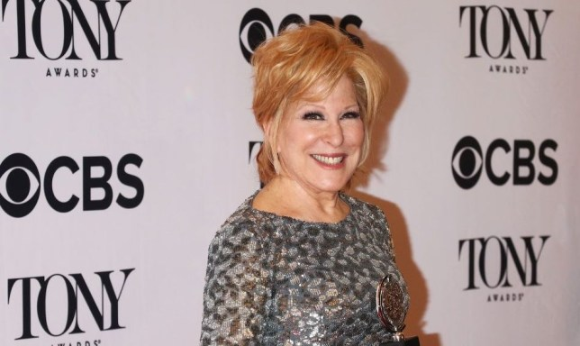 Bette Midley at the 2017 Tony Awards