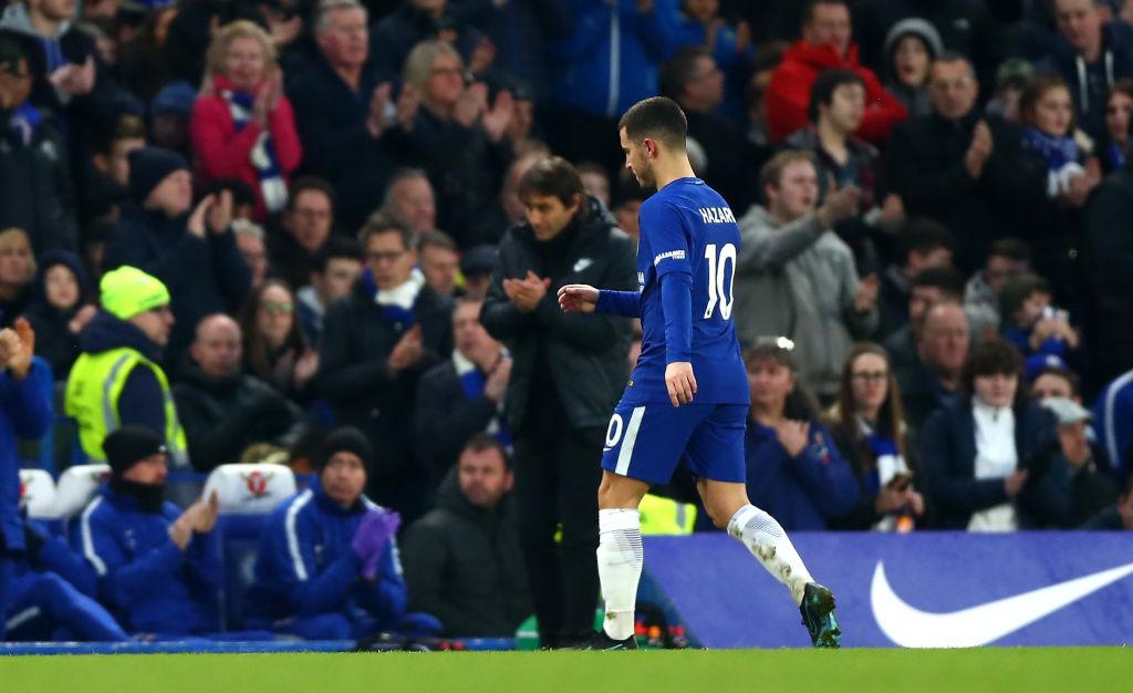 Antonio Conte reveals why he subbed Eden Hazard off in 58th minute vs Leicester
