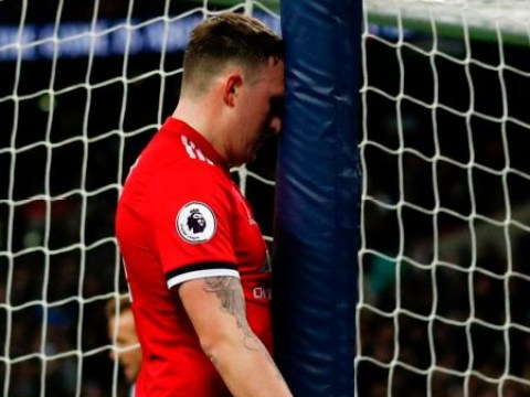 Hilarious picture sums up Phil Jones' first-half horror show against Tottenham