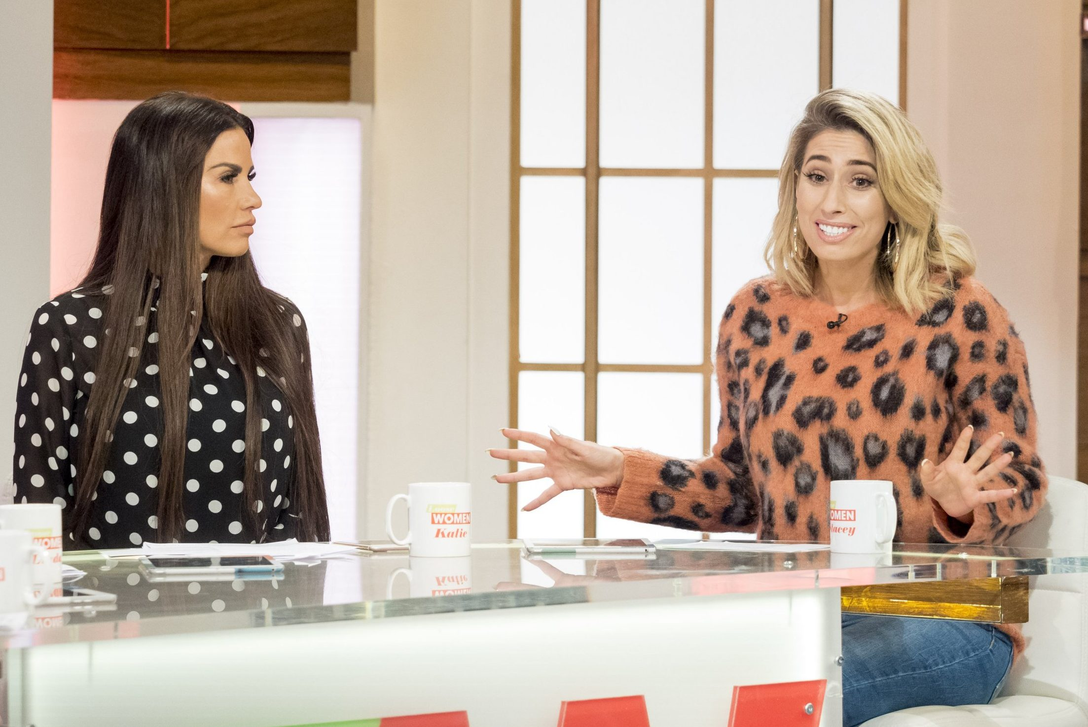 Stacey Solomon has signed Katie Price up to a dating app – but she finds it 'uncomfortable'