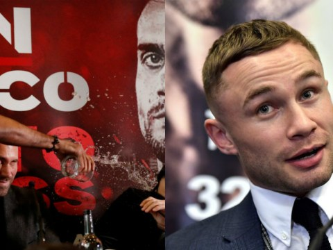 Carl Frampton trolls Amir Khan after boxer throws water over opponent in press conference