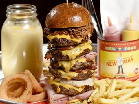 A London restaurant is selling a 3kg six patty cheeseburger