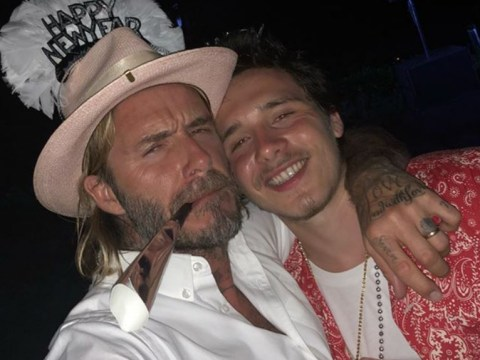 David Beckham and son Brooklyn have a wild time at New Year party as family enjoy sun-drenched vacation