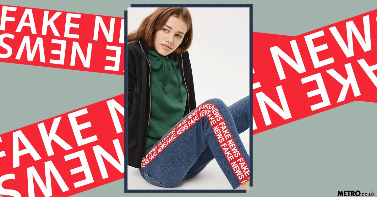 Topshop Fake News jeans