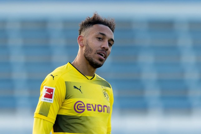 Pierre-Emerick Aubameyang raises an eyebrow