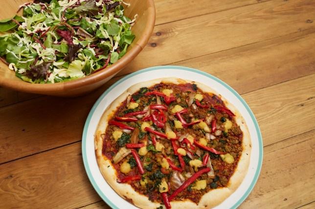 Goodfella's vegan frozen falafel pizza