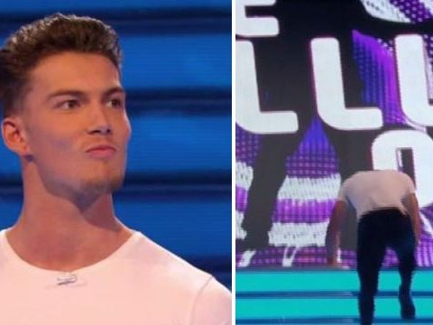 'Cocky' Take Me Out contestant falls up the stairs in front of flirty thirty