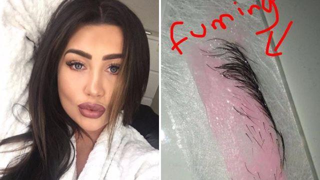 Lauren Goodger accidentally waxes off half her eyebrow