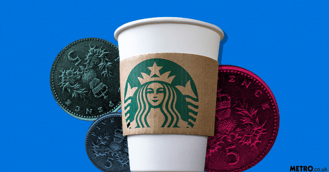 Starbucks is going to start charging some people 5p to use a paper cup Picture: REX/Getty/Metro.co.uk