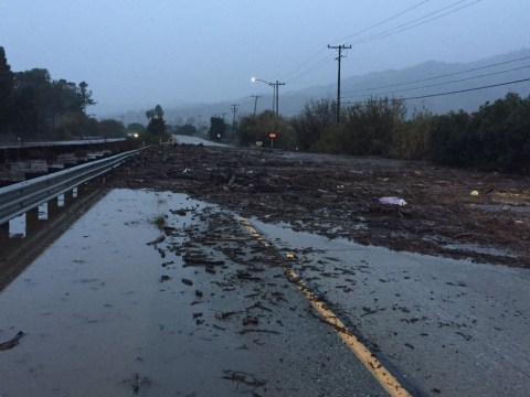 Homes 'wiped away' by mud after huge storm tears through California
