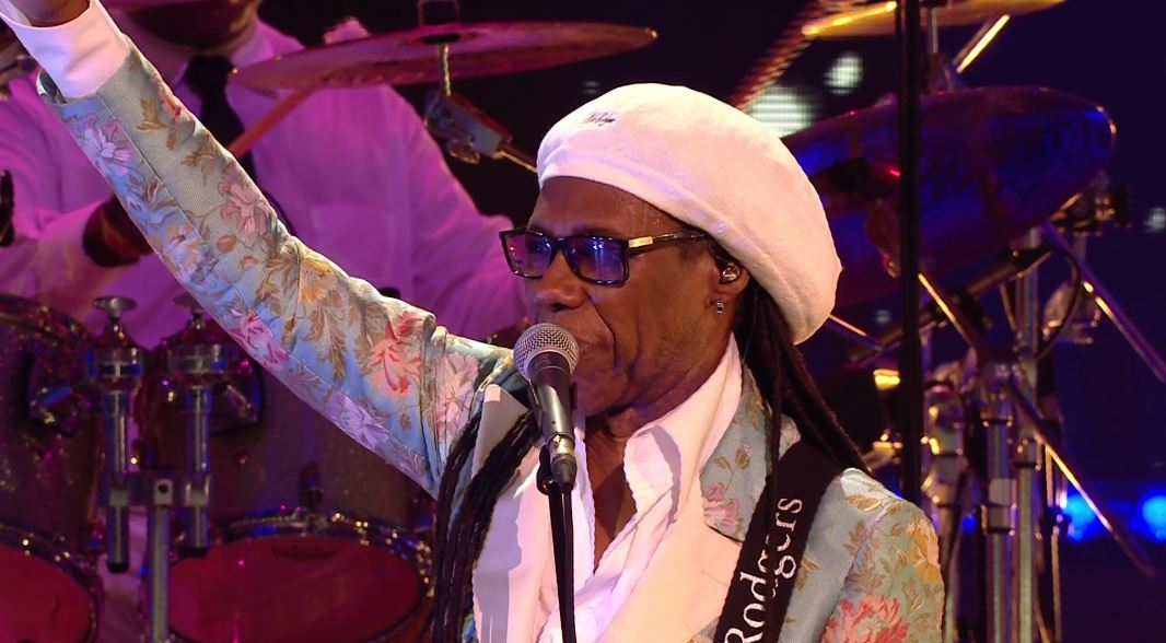 Nile Rodgers reveals he's two months cancer free as he wows at New Year's Eve celebrations