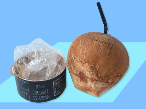 Sainsburys is in trouble for selling 'organic' coconuts covered in plastic