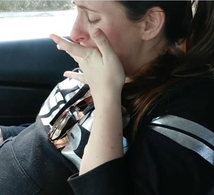 Pregnant woman bursts into tears after eating some pancakes