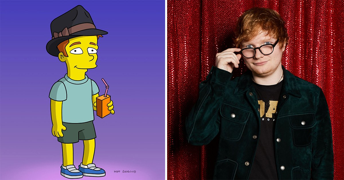 First look of Ed Sheeran's appearance in The Simpsons teases love triangle with Lisa