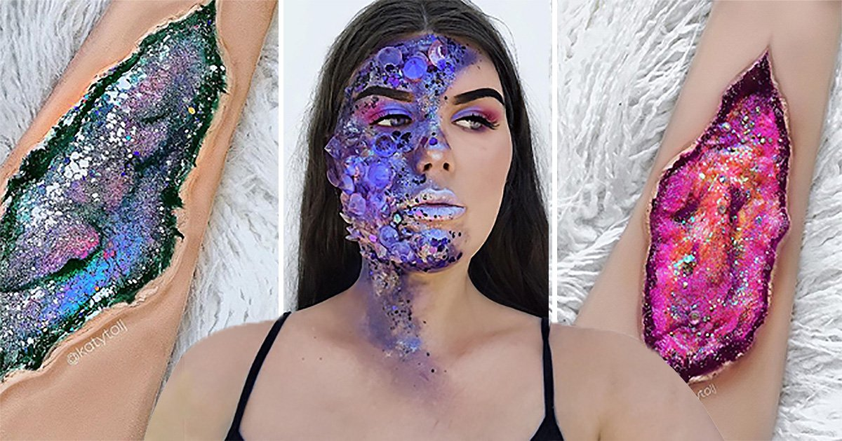 This woman is creating geodes with make-up and it's magical