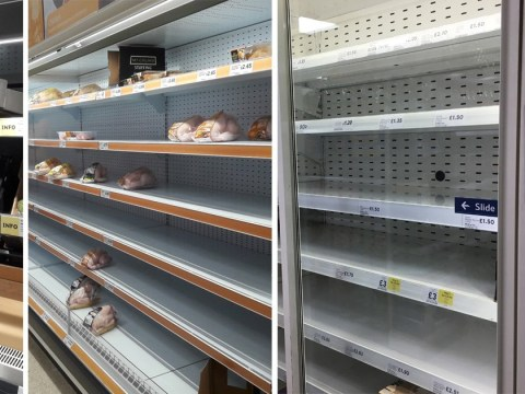 Shops already running out of food just three days into 2018