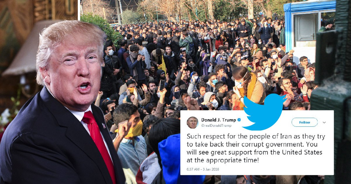 Iran lashes out at Trump over his tweets supporting protests