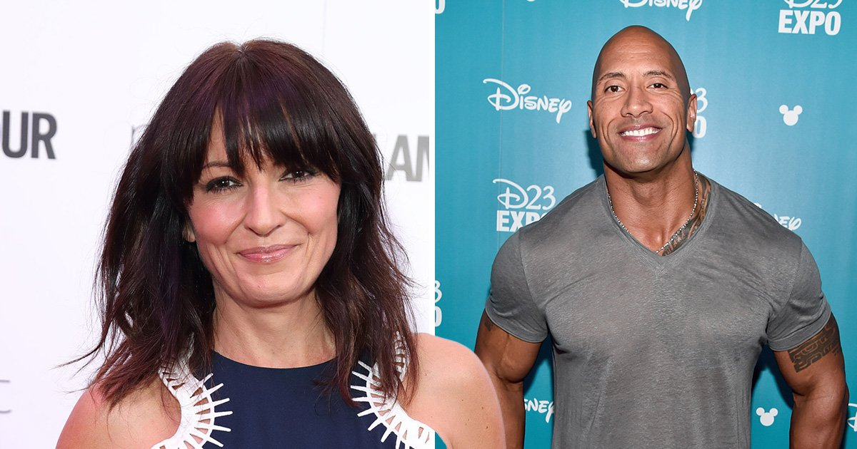 Newly-single Davina McCall reveals she's been secretly messaging The Rock